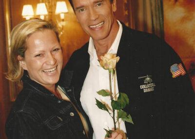 Susan Bäthge und Arnold Schwarzenegger