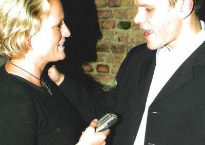Susan Bäthge und Matt Damon